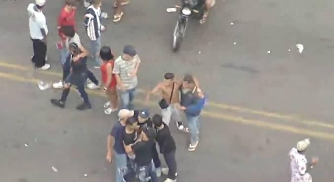 Câmeras registraram brigas entre frequentadores