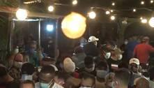 Blitz flagra aglomeração de 200 pessoas e fecha festa em SP