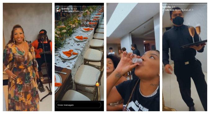 Festa da avó de Ludmilla teve banda, banquete e convidados em meio à pandemia