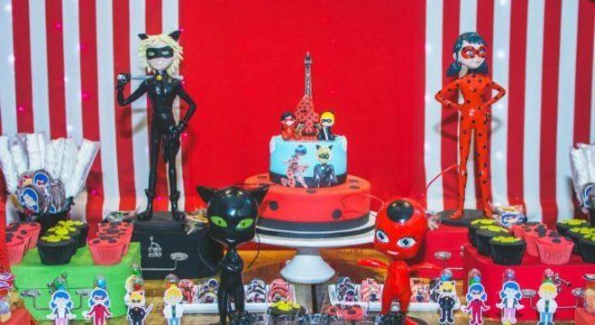 Festa ladybug para aniversário infantil