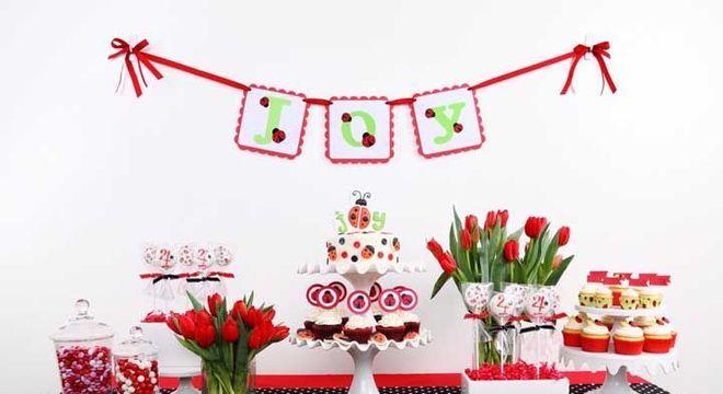 Festa ladybug vermelha