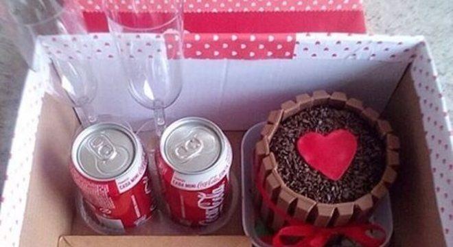 Festa na caixa para o dia dos namorados