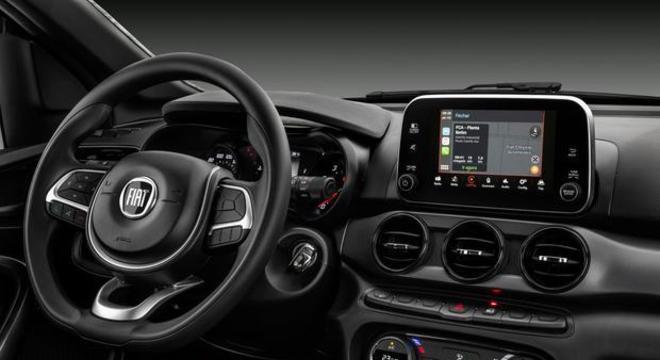Fiat Argo e Cronos com interior preto, já oferecido no modelo Trekking do hatch linha 2020