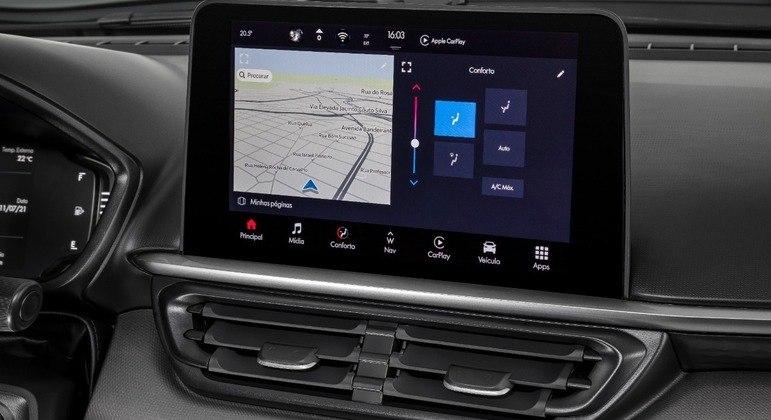 Tecnologia também está presente na Fiat Toro