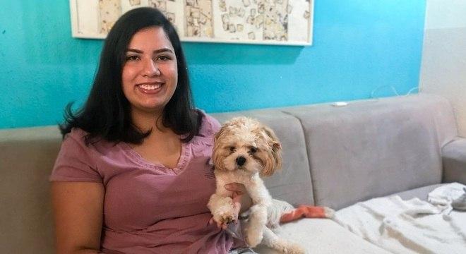 Gabriela Morais queria cursar medicina veterinária, mas não conseguiu por causa do recorte de renda