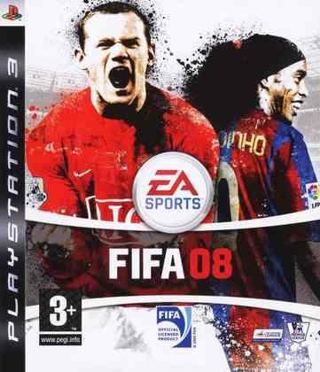 FIFA 08 - Pelo terceiro ano consecutivo, Ronaldinho Gaúcho e Wayne Rooney dividiam a capa global de FIFA.