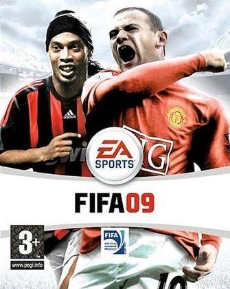 FIFA 09 - Pelo quarto e último ano, a dobradinha entre Wayne Rooney e Ronaldinho Gaúcho foi estampada na capa de FIFA.