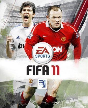 FIFA 11 - Um brasileiro voltou as capas internacionais do game.  A capa internacional foi composta por Kaká e o inglês Wayne Rooney.