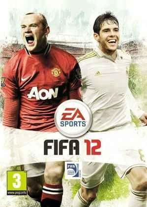 FIFA 12 - A capa do game trouxe Wayne Rooney pela sétima e última vez, novamente ao lado de Kaká.