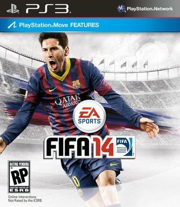 FIFA 14 - No ano seguinte o game também trouxe o argentino como principal astro de sua capa global.