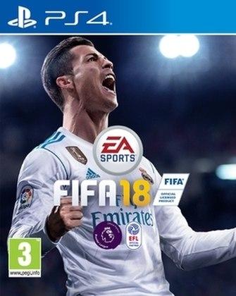 FIFA 18 - O game veio com Cristiano Ronaldo em sua capa mundial de 2018.