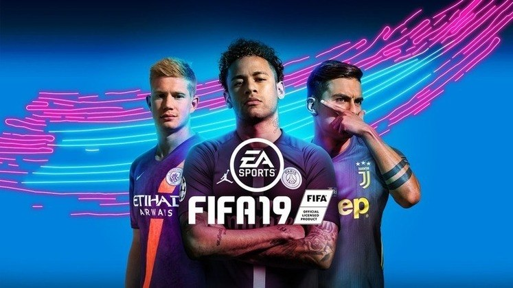 FIFA 19 - A capa veio com destaque para o brasileiro Neymar. Ao lado do brasileiro, Dybala e Kevin De Bruyne.