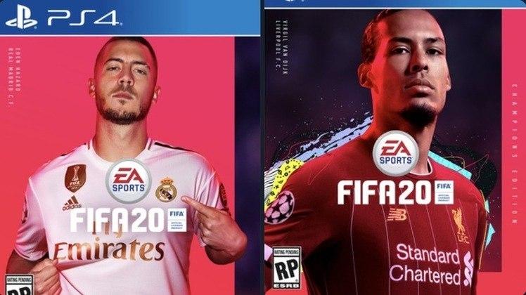 FIFA 20 - Hazard e van Dijk foram os jogadores na capa do FIFA 20. Os dois craques, porém, não dividirão a mesma arte.