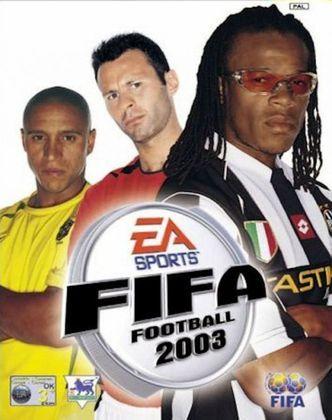 FIFA 2003 - A capa mundial do game veio com o lateral-esquerdo brasileiro Roberto Carlos acompanhado do meia galês Ryan Giggs e do volante holandês Edgar Davids.