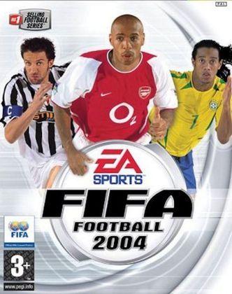FIFA 2004 - A capa de 2004 foi a mesma em todo mundo, com os meias Ronaldinho Gaúcho (Brasil) e Alessandro Del Piero (Itália) e o atacante Thierry Henry (França).