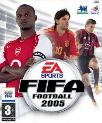 FIFA 2005 - O trio de capa do game era composta pelo meia Patrick Vieira (França) e pelos atacantes Fernando Morientes (Espanha) e Andriy Shevchenko (Ucrânia).
