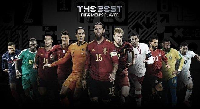 Os concorrentes anunciados pela Fifa. Rivais muito fortes. Lewandowski é o maior