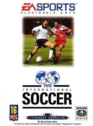 FIFA 94 - O primeiro jogo da franquia trazia na capa o registro de uma disputa de bola entre o meio-campista inglês David Platt e o também meio-campista Piotr Świerczewski, da Polônia.