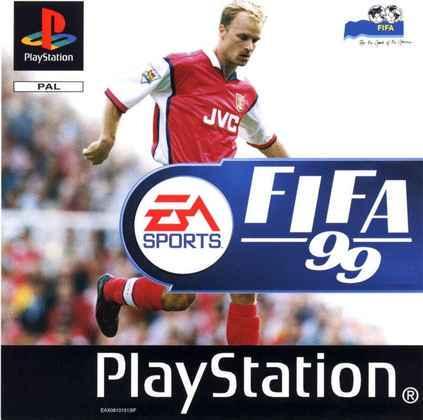 FIFA 99 -  A versão internacional do game trouxe o meia holandês Dennis Bergkamp na capa
