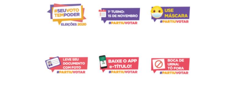 TSE e WhatsApp lançam pacote com 23 figurinhas sobre as eleições municipais de 2020