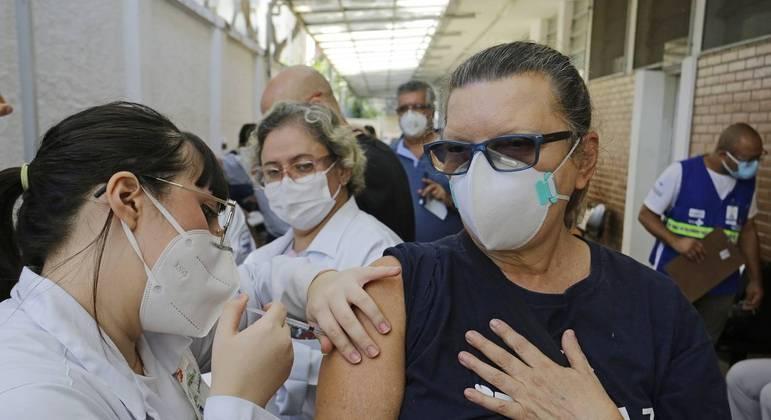 Vacinação na cidade de São Paulo
