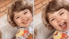 Filha de Tatá Werneck volta a rouba a cena na internet com gargalhada