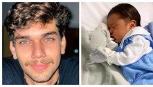 Filho caçula de Leandro, dupla com Leonardo, é pai pela primeira vez