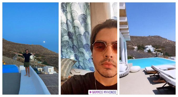 Filho de Faustão postou fotos da viagem nas redes sociais