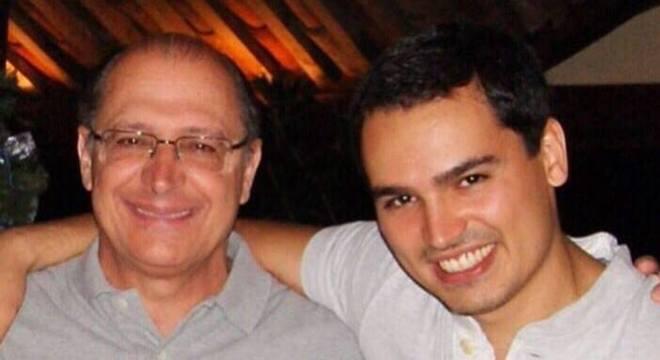 O ex-governador de São Paulo, Geraldo Alckmin, e seu filho, Thomaz Alckmin