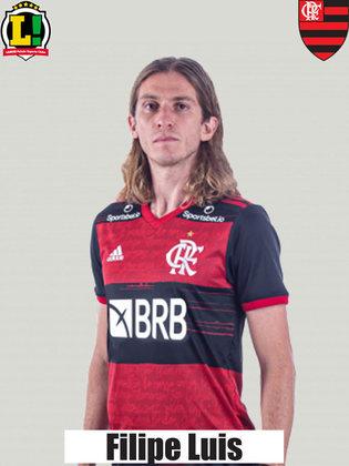 FILIPE LUÍS - 7,0 - A segurança com que atua com a camisa do Flamengo é coisa rara de se ver. Foi coroado com o gol que abriu o placar no Maracanã. Foi o segundo do lateral pelo Rubro-Negro. Os dois contra o Fluminense, curiosamente.