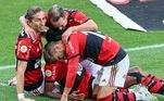 Filipe Luís, Diego, Everton Ribeiro, Flamengo
