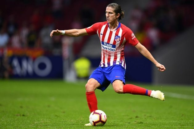 Filipe Luís - Posição: lateral esquerdo - Clube em 2019: Atlético de Madrid - Clube em 2021: Flamengo.