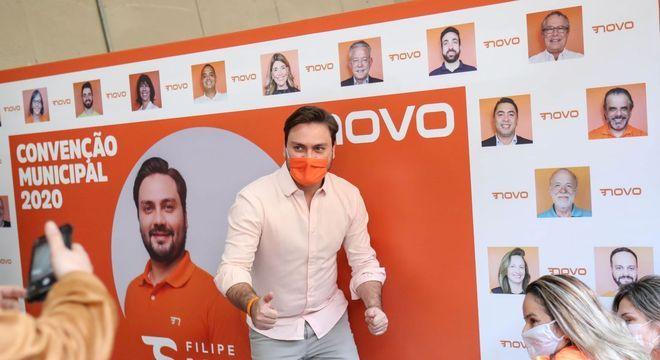 O candidato à Prefeitura de São Paulo pelo partido Novo, Filipe Sabará