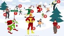 Consegue identificar os 10 filmes natalinos escondidos na imagem?