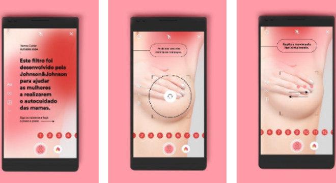 Filtro no Instagram ajuda mulheres a fazer o autoexame das mamas