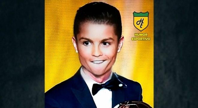 Filtro de bebê do Snapchat - Cristiano Ronaldo