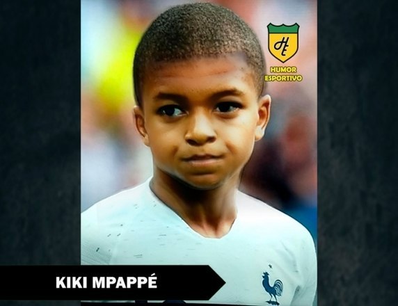 Filtro de bebê do Snapchat - Mbappé