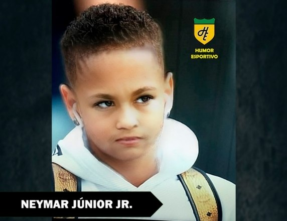 Filtro de bebê do Snapchat - Neymar