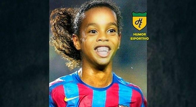 Filtro de bebê do Snapchat - Ronaldinho Gaúcho