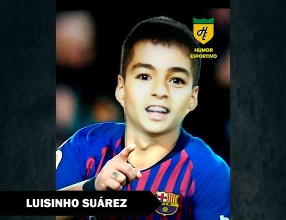 Filtro de bebê do Snapchat - Suárez