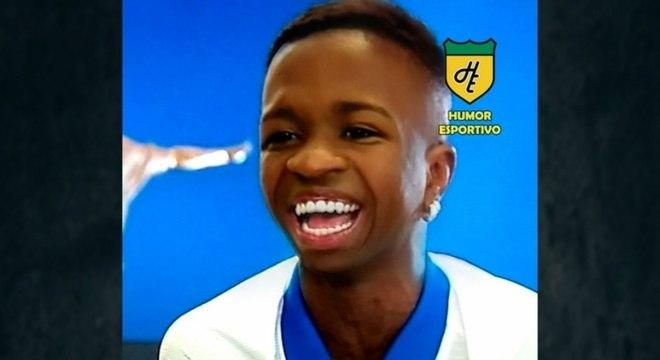 Filtro de bebê do Snapchat - Vinicius Júnior