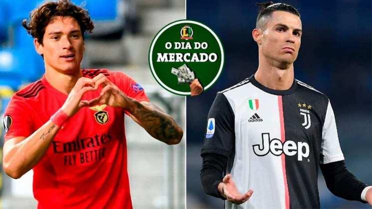 Fim de semana quente no mercado da bola! O Manchester City vai atrás de atacante do Benfica para ser o futuro camisa 9 do clube. Há também rumores sobre Cristiano Ronaldo, que pode estar de saída da Juventus, e muito mais! Veja o resumo das notícias do vaivém no fim de semana!