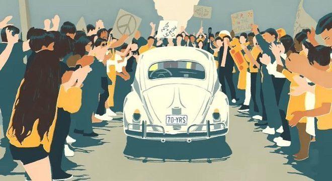 Volkswagen lança belo vídeo ao som de Beatles para se despedir do Fusca