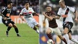 Finais dos estaduais mexem com a rivalidade do futebol em São Paulo e no Rio (Bruno Ulivieri e Jorge Rodrigues/Ag. Estado/14-04-19)