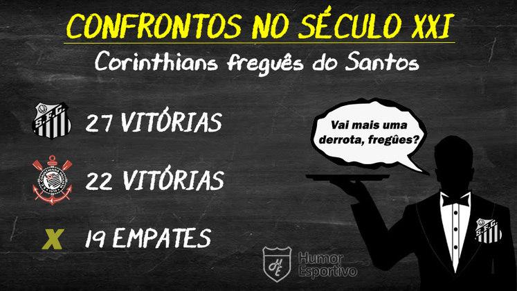 Final baseada no retrospecto? O Santos levaria a melhor sobre o Corinthians