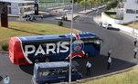 A delegação do Paris chegou antes no estádio da Luz, em Lisboa, Portugal