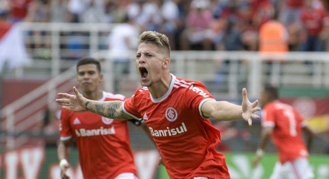 Guilherme Pato fez o gol de empate do Internacional no tempo normal
