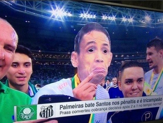 Final da Copa do Brasil (02/12/2015): com dois gols de Dudu e um de Ricardo Oliveira, o Palmeiras desfez a vantagem conquistada pelo Santos na partida de ida e levou a decisão para os pênaltis. Fernando Prass marcou o gol do título