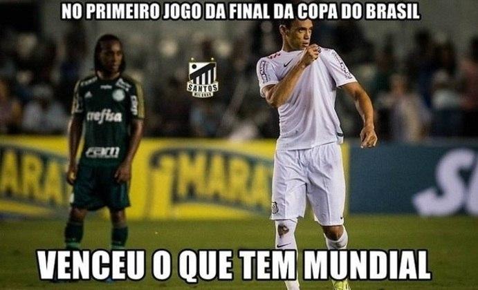 Final da Copa do Brasil (25/11/2015): o Santos venceu a partida de ida por 1 a 0 e deu uma grande passo para o título