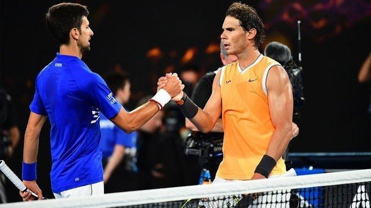 Final do Australian Open 2019 (sábado, 20h, ESPN Extra) - Confira um dos jogos épicos envolvendo dois dos maiores tenistas da história: Novak Djokovic e Rafael Nadal.